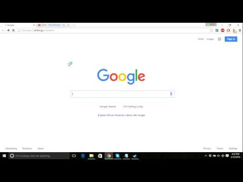 How to change browsing location on google chorme