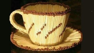 How To Make Matchstick Cup - Easy