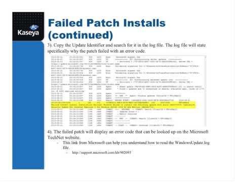 Patch Management - Kaseya R94 Documentation