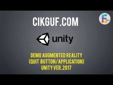 (06) Pembangunan Augmented Reality [Quit Button/Application]