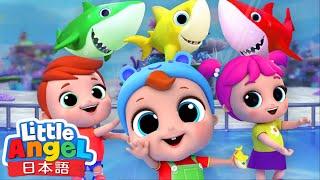 サメさん家族と踊りましょ! | ベイビーシャーク | 赤ちゃんが喜ぶ歌 | 童謡と子供の歌 | Little Angel - リトルエンジェル日本語