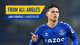 James rodriguez's screamer against leicester!   from all angles