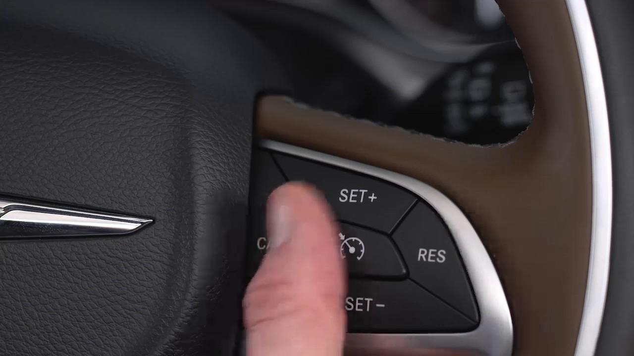 To set cruise control
