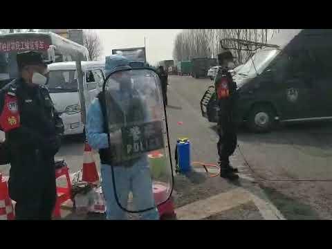 КОРОНАВИРУС. Китай. СПЕЦСЛУЖБЫ проверка на дорогах.  Coronavirus in China. SWAT  work on the roads.