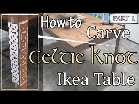 How to Relief Carve Celtic Knot Ikea Kitchen Table -  Part 1