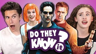 do teens know 90s action movies? react do they know it?