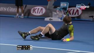 Roger Federer vs Andy Murray   Australian Open 2013 SF Highlights HD