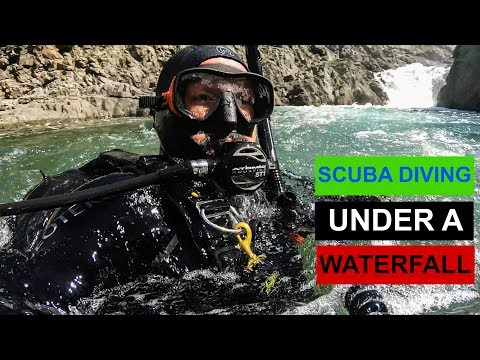 SCUBA DIVING UNDER A WATERFALL    Exploring Oregon Rivers