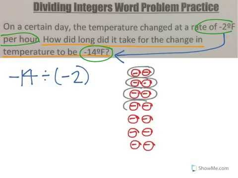 Multiplying and Dividing Integers Word Problems - YouTube