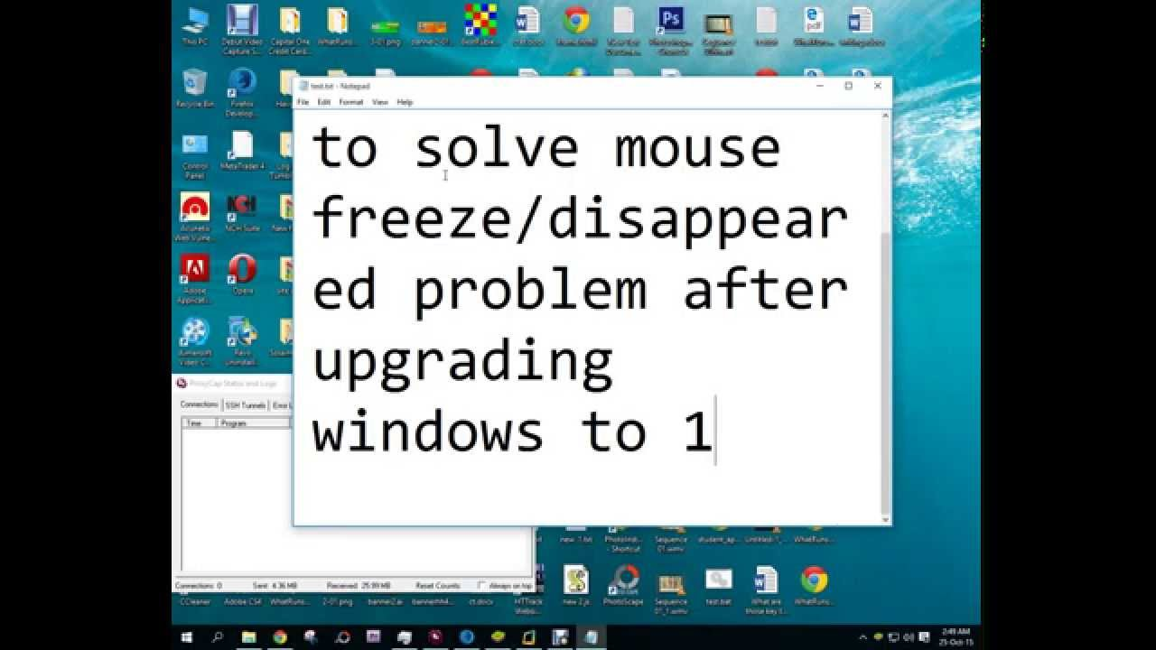 Mouse cursor disappears or freezes. No problem 49
