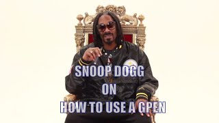 How to Use A G Pen - by Snoop Dogg(Snoop Dogg and Grenco Science present a how-to video to show you how to use your Snoop Dogg Double G Series Herbal tank pen Get yours at ..., 2013-12-20T03:35:37.000Z)