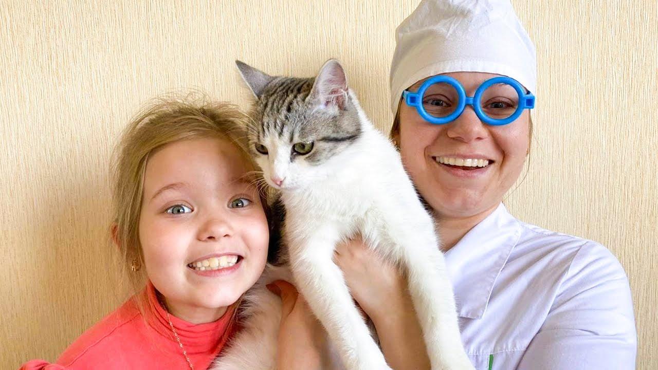 Лерочка и весёлая история про котёнка