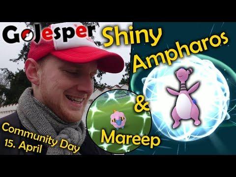 Shiny Ampharos & Mareep - Community Day #4 (Dansk Pokemon GO)