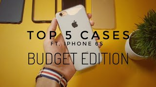 Top 5:iPhone 6s cases | IPHONE X special |Budget edition