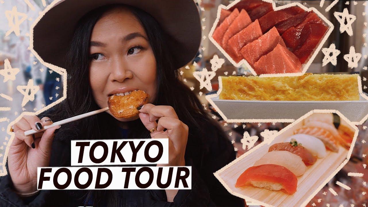 Tokyo Street Food Tour: Tsukiji Fish Market, Sushi & Izakaya   Japan Travel Vlog