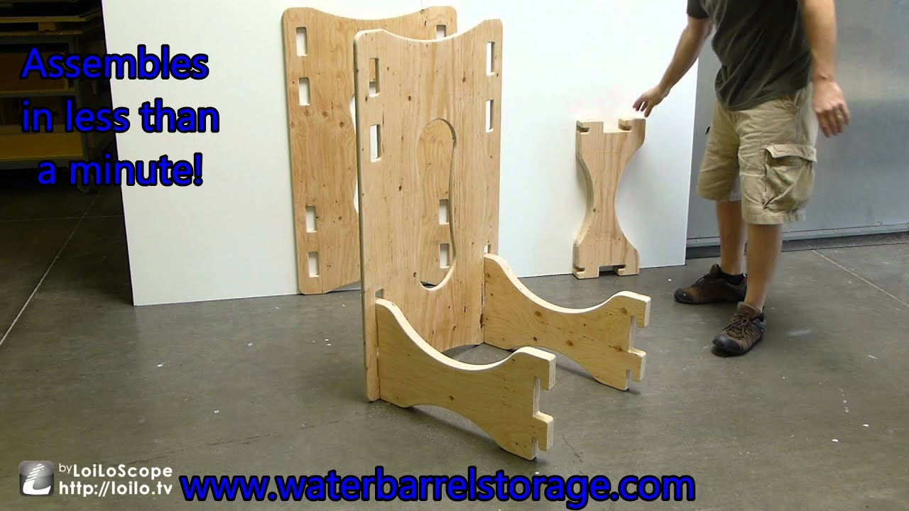 & Water barrel storage rack - assembly - YouTube