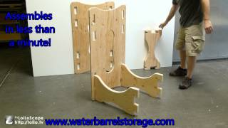 Water Barrel Storage Rack - Assembly