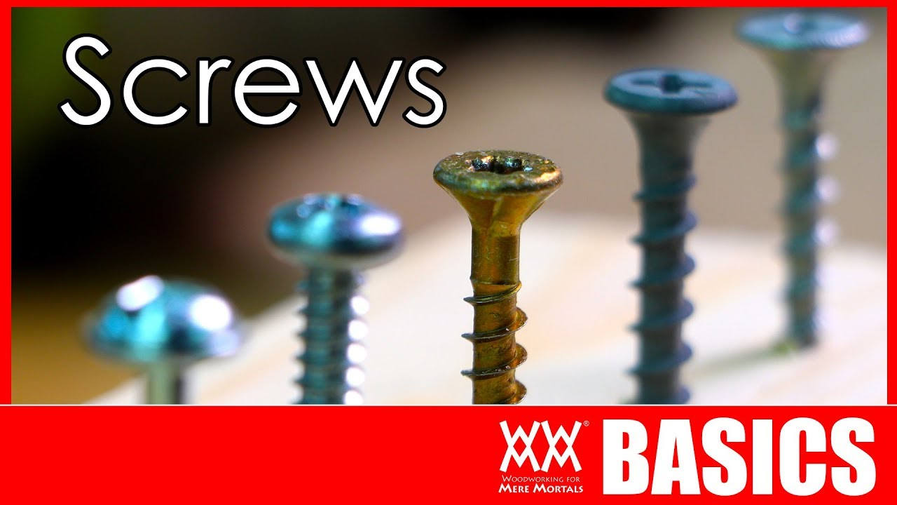 What Kind Of Screw Should I Use Woodworking Basics Youtube