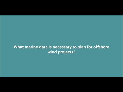 What marine data is necessary to plan offshore wind projects?