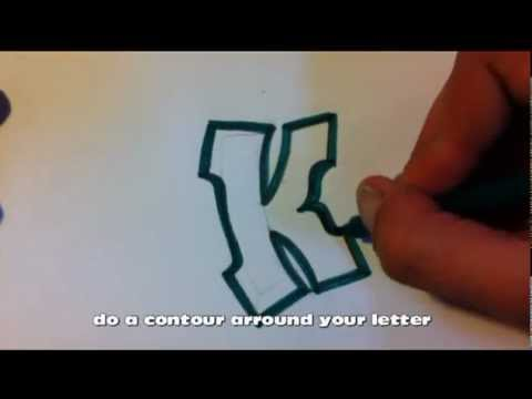 How To Draw Graffiti Alphabet Letters K Youtube