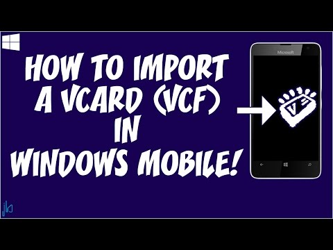 How To Import Contacts From A VCard (vcf) File In Windows 10 Mobile