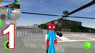 Flying-Spider StickMan Rope Hero Strange Gangster - Gameplay Walkthrough Part 1 (Android,iOS)