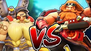 OVERWATCH VS PALADINS!? TORBJORN VS BARIK! HOW SIMILAR ARE THEY?