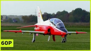 STUNNING BIG RC SCALE BAE HAWK FLIGHT DEMONSTRRATION AND CRITICAL LANDING