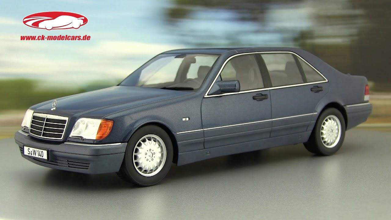 1994 Blue Met I-SCALE 1:18 118000000049 Model Mercedes Benz S-Class S500 W140