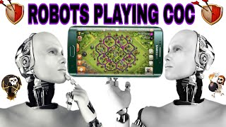 Robots playing clash of clans //top 5 robots playing #coc