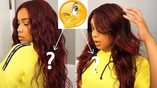 Battle of the Red Wavy Wigs Under $30! | Outre Halle Wig VS Outre Soraya Wig | Ebonyline.com
