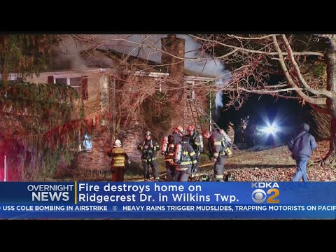 Wilkins Twp. Fire Destroys Home