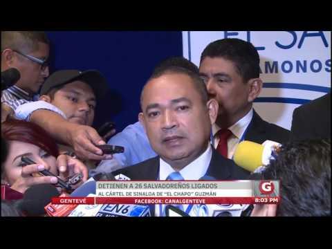 Detienen a 26 salvadoreños ligados al Cártel de Sinaloa de El Chapo Guzmán