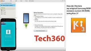 Samsung Galaxy J7 SM J700F   How to restore original firmware with Samsung Kies 3