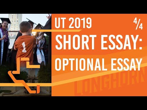 [UT Admissions 2019] Short Answer Guide - Special Circumstances (Optional Essay)