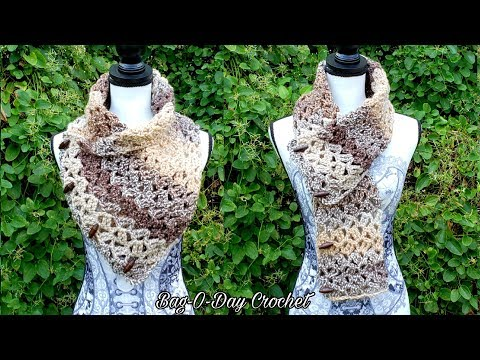 How To Crochet easy Cowl for beginners | Snickerdoodle CROCHET Scarf | BAGODAY CROCHET TUTORIAL #520
