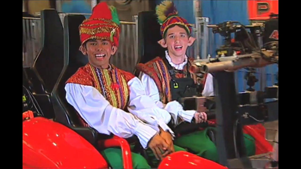Christmas Town Elves Ride Verbolten | Busch Gardens - YouTube