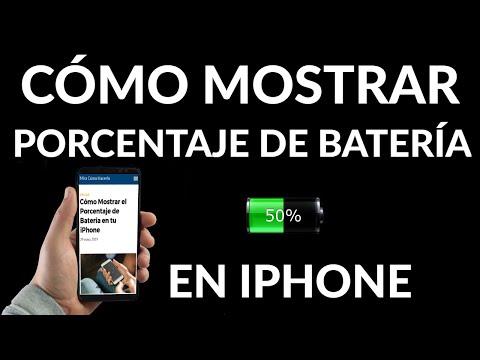 Cómo Mostrar el Porcentaje de Batería en tu iPhone