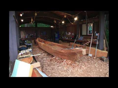 Carving of a Tlingit & Haida dugout canoe
