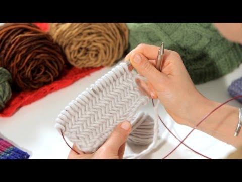 How to Do a Herringbone Stitch | Knitting