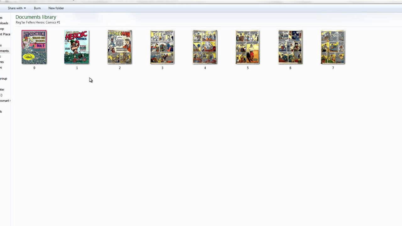 HOW to CREATE and MAKE a CBR COMIC FILE TUTORIAL