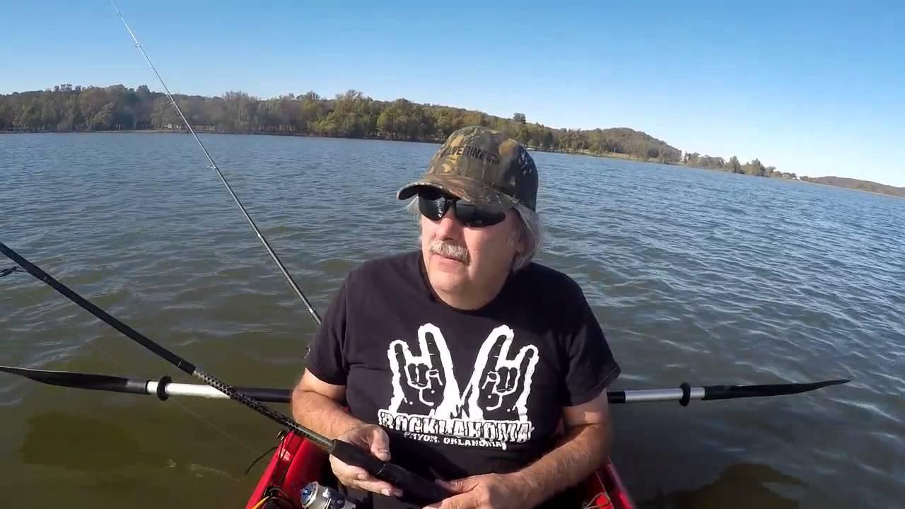 Kayak fishing lake hudson oklahoma doovi for Lake of egypt fishing report