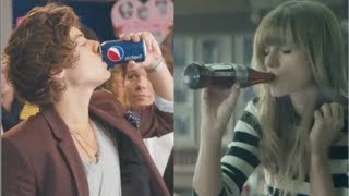 Taylor Swift Diet Coke Ad Vs. One Direction Pepsi Commercial!?