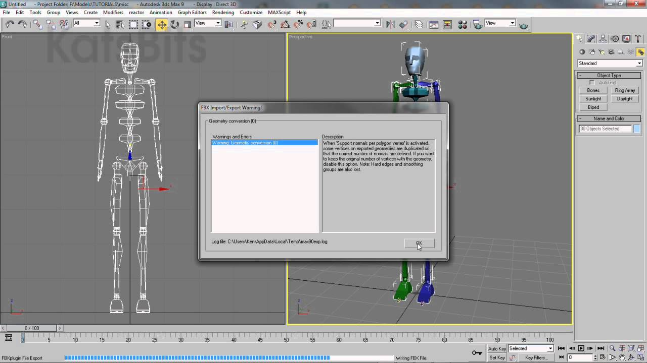 Import Max Biped into Blender