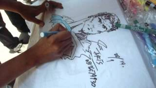 Mas Aris (Semarang) drawing in 4 minutes