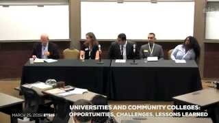 ETS15@EDU Panel: Universities & Community Colleges: Opportunities, Challenges, Lessons Learned