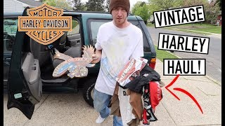 MASSIVE Harley Davidson YARD SALE HAUL - Guess How Much We Paid?