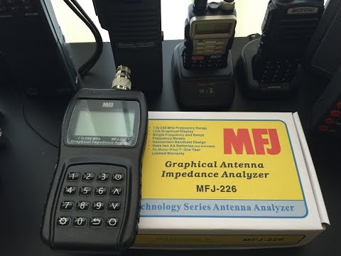 MFJ-226 Graphical Antenna Impedance Analyzer - Testing Antennas and First Impressions