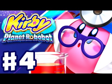 Kirby Planet Robobot - Gameplay Walkthrough Part 4 - Area 4: Gigabyte Grounds (Nintendo 3DS English)