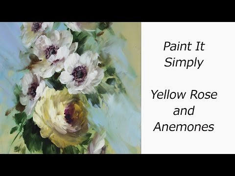 Yellow Rose and Anemones